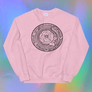 Rose Mandala Snake sweatshirt by TesoroCarolina